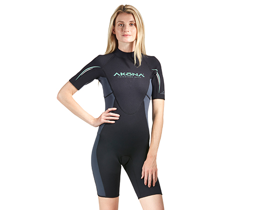 3MM SHORTY SUIT - AKMS129 IMAGE 1