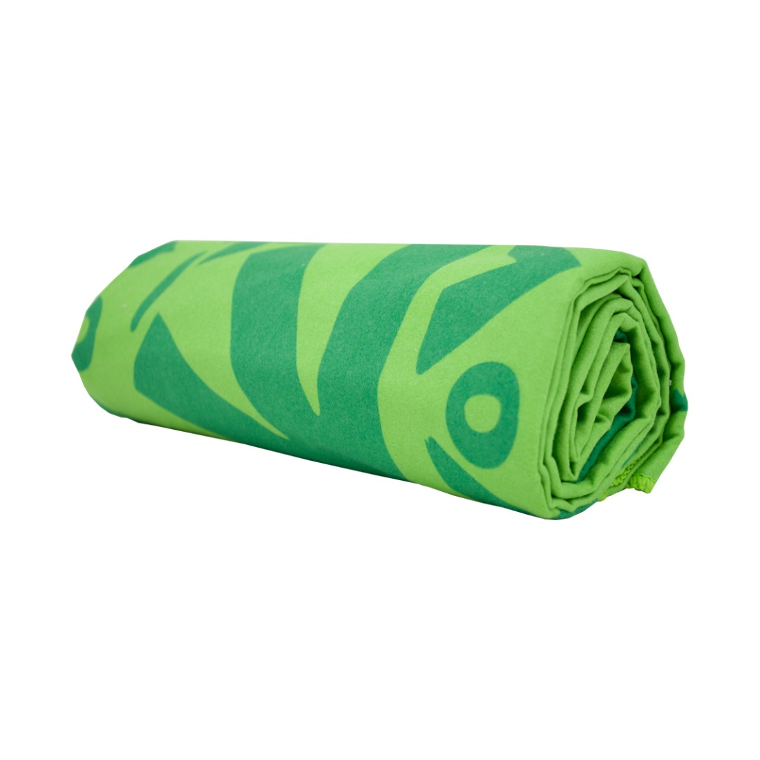MICROFIBER MULTI-PURPOSE TOWEL GN Rolled Up