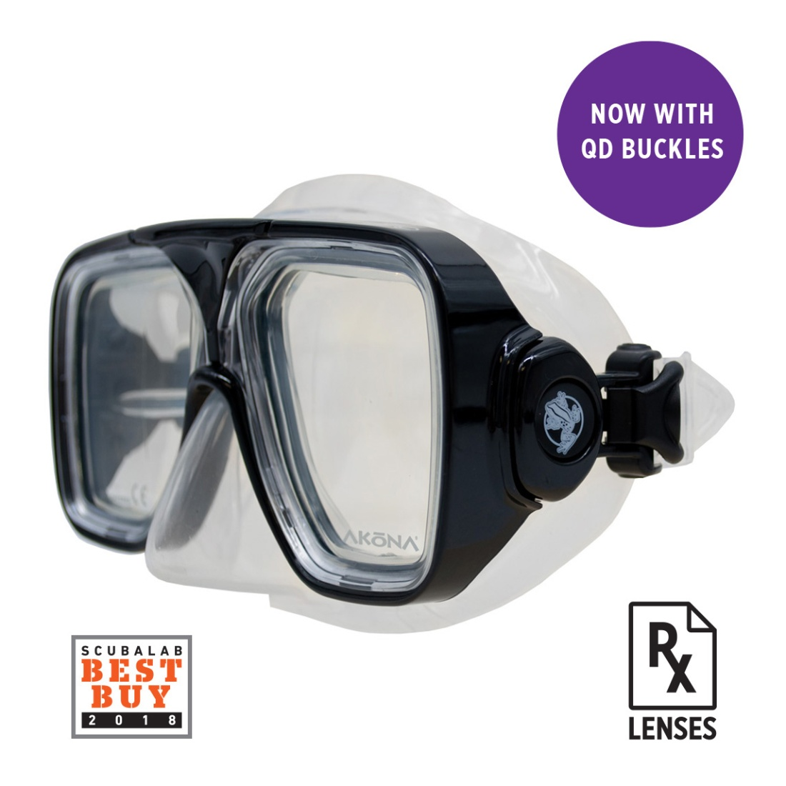 BREEZE MASK - AKM280 BK Left