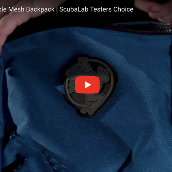 Collapsing Mesh Backpack Video